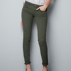 Zara Olive Green Slim Pants